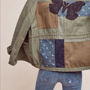 Anthropologie Hei Hei Sz Med Patched Utility Jkt
